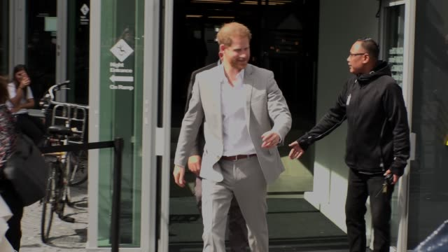 hrh the duke of sussex on september 3 2019 in amsterdam - prince harry stock videos & royalty-free footage