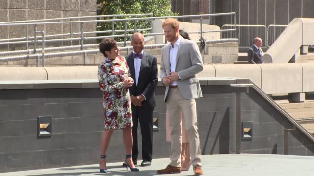 the duke of sussex the duchess of sussex at southbank centre on july 17 2018 in london england - 公爵点の映像素材/bロール