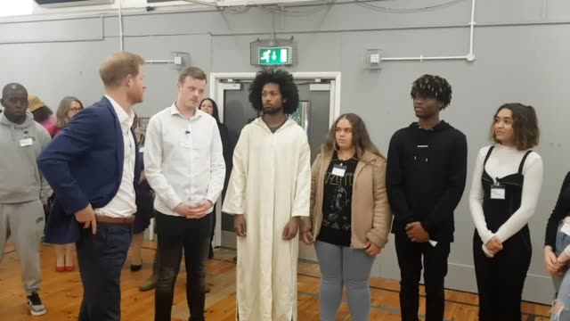 the duke of sussex visits a community recording studio in nottingham prince harry spoke to young people taking part in a hip hopera play which they... - mental wellbeing stock videos & royalty-free footage