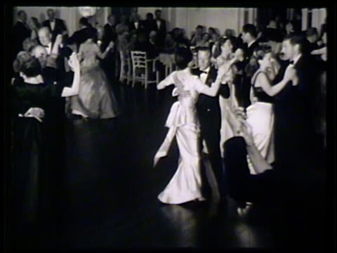 the duke of windsor duchess of windsor dancing together in ballroom w/ other guests royalty - wallis simpson stock videos & royalty-free footage