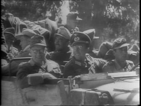 the dunkirk that failed / in cape bon a field of imprison german soldiers and officers closeups of smiling and waving / a dead soldier laying... - face down stock videos & royalty-free footage