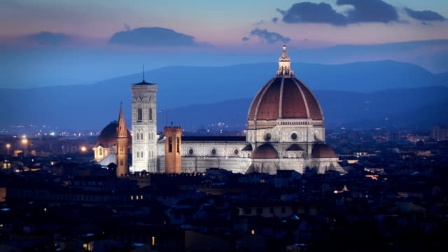 the duomo cathedral, florence, italy - florence italy stock videos & royalty-free footage