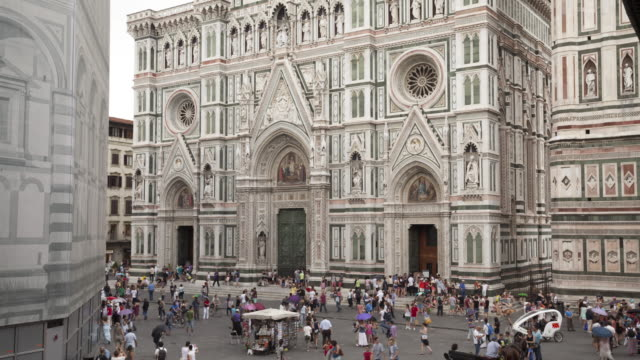 the duomo in florence, italy. - duomo santa maria del fiore stock videos and b-roll footage