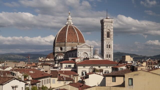the duomo or cathedral of florence - duomo santa maria del fiore stock videos and b-roll footage