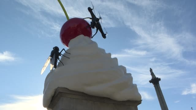 GBR: Dystopian whipped cream sculpture unveiled at Trafalgar Square