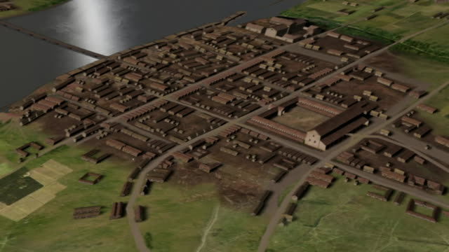 the early city of london spans the river thames. - river thames stock videos & royalty-free footage