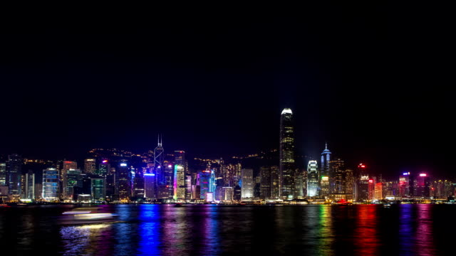 t/l ws the earth hour event at hongkong victoria harbour / hongkong, china - earth hour stock videos & royalty-free footage