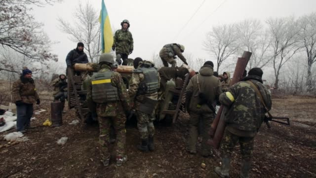 The east Ukraine town of Debaltseve was the epicentre of fighting in the hours ahead of Sunday's ceasefire amid non stop bombardments impassable...