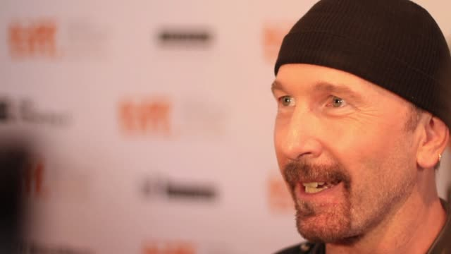 the edge on u2's creative process on working with the director and on the film being at the festival - david 'the edge' howell evans stock videos and b-roll footage