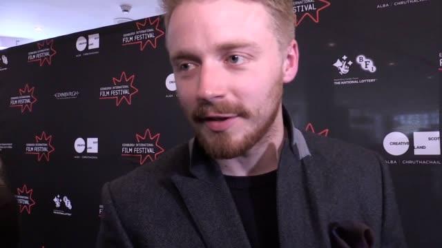 the edinburgh international film festival has drawn to a close with the world premiere of morrissey biopic england is mine director mark gill's... - 伝記映画点の映像素材/bロール
