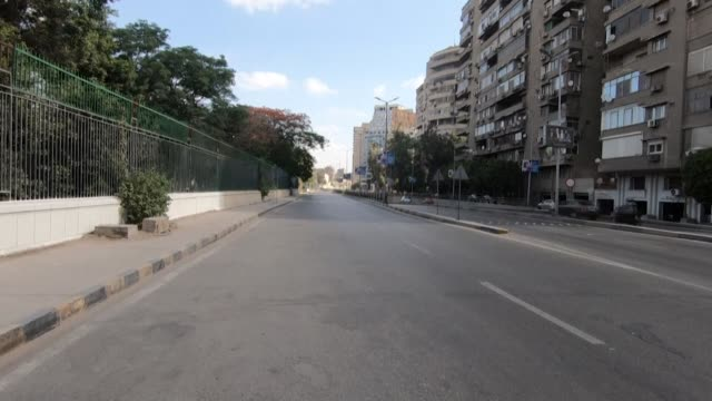the egyptian capital cairo is seen almost empty on the first day of eid al-fitr, following a strict lockdown to limit the spread of the coronavirus... - authority stock videos & royalty-free footage