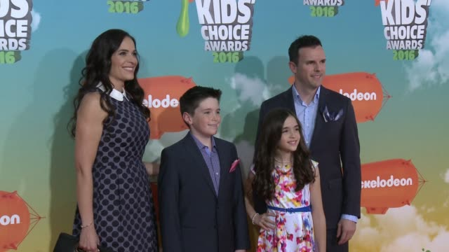 The Ehbee Family at Nickelodeon's 2016 Kids' Choice Awards at The Forum on March 12 2016 in Inglewood California