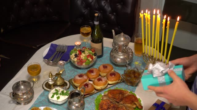 The eight-day Jewish celebration known as Hanukkah or Chanukah. Often called the Festival of Lights, the holiday is celebrated with the lighting of the menorah, traditional foods, games and gifts