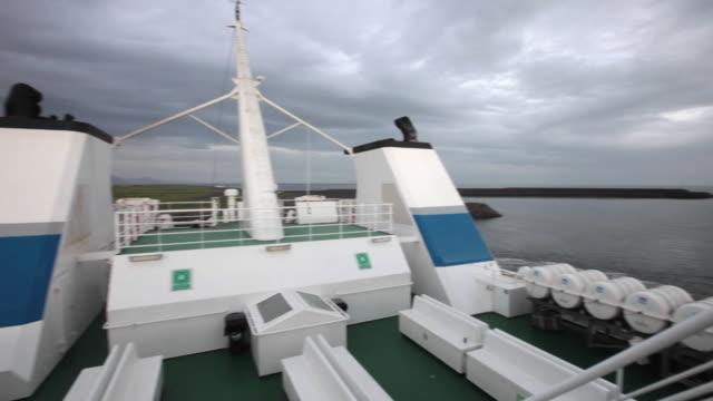 vídeos y material grabado en eventos de stock de the eimskip ferry at the harbour landeyjahofn, iceland - terminal de ferry