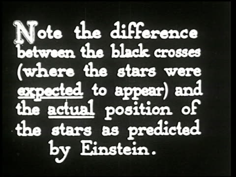 vídeos de stock, filmes e b-roll de the einstein theory of relativity - 24 of 29 - albert einstein