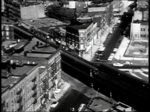 1965 ha the el cutting through the bronx / new york city, new york, united states - mid atlantic usa stock videos & royalty-free footage