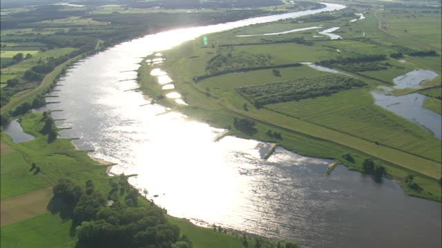The Elbe River Near Schnackenburg