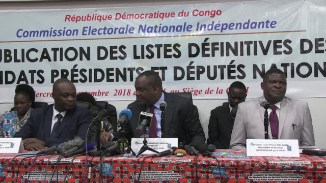 the electoral commission officially published on wednesday the list of 21 candidates for the december presidential election in the democratic... - esilio video stock e b–roll