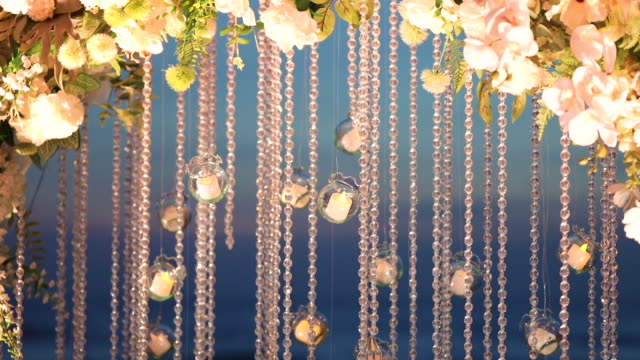 the elegant dinner table decoration at wedding reception. - order stock videos & royalty-free footage