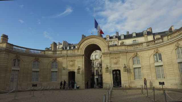 the elysee palace - palace video stock e b–roll