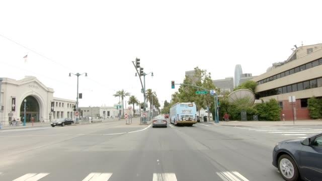 sf den embarcadero xxix synkroniserade serien främre visa körning process skylt - trådbuss bildbanksvideor och videomaterial från bakom kulisserna