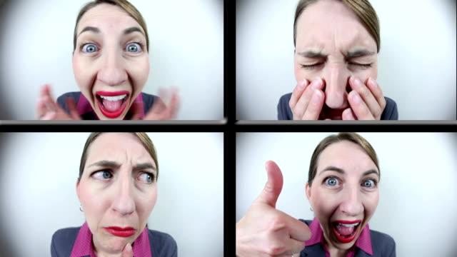 die emotionale frau - weitwinkel stock-videos und b-roll-filmmaterial