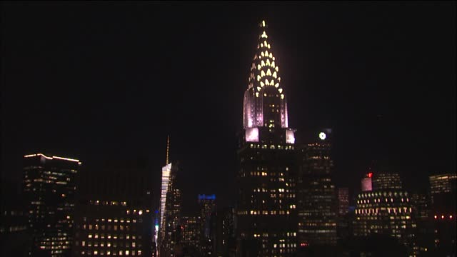 the empire state building lights up pink for national breast cancer awareness month the empire state building lights up pink on october 13 2013 in... - month stock videos & royalty-free footage