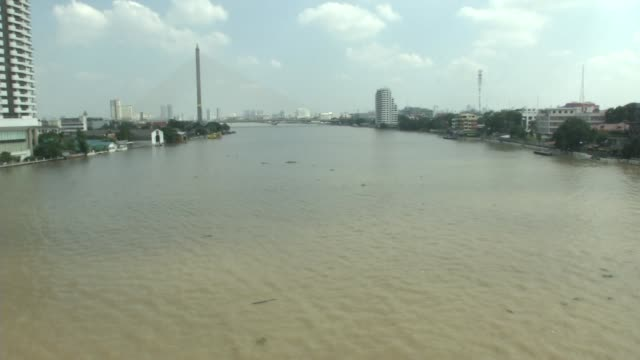 The Empty Chao Phraya river near Sanam Luang where the funeral and cremation of the late King of Thailand Bhumibol Adulyadej