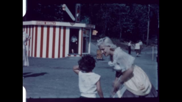 the enchanted forest of the adirondacks was an amusement park that opened in the 1950's / the park was built with themes from children's nursery... - home movie stock videos & royalty-free footage