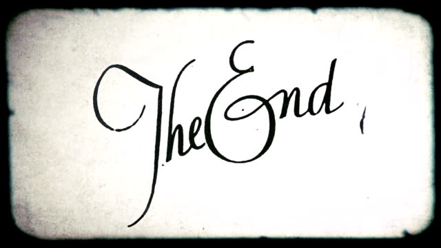 the end film frame. hd1080 - finishing stock videos & royalty-free footage