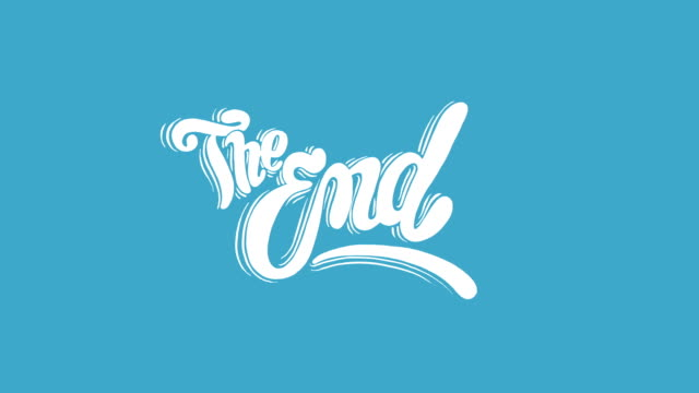 the end title - finishing stock videos & royalty-free footage