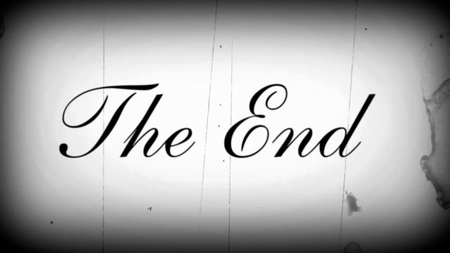 the end with sound v1 - the end stock videos & royalty-free footage