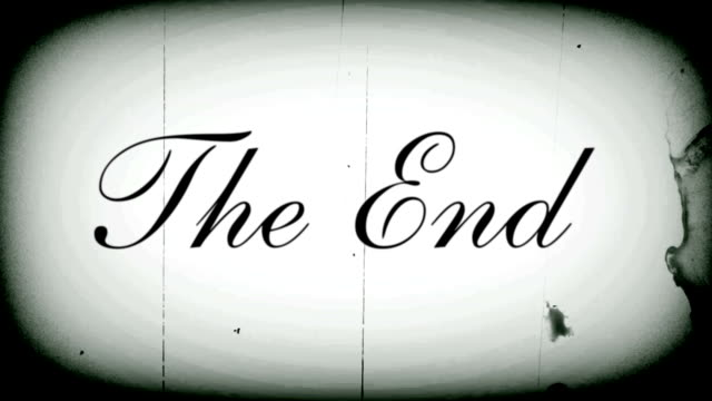 the end with sound v3 - black and white stock videos & royalty-free footage