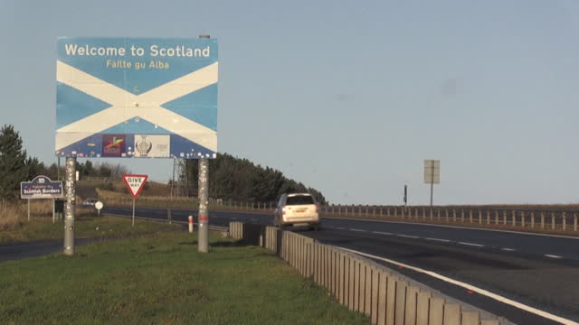 the england-scotland border - scottish culture stock videos & royalty-free footage