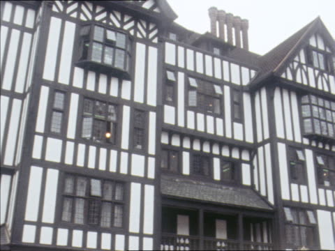 the english tudor architectural style characterizes the fashion store liberty of london. - department store stock videos and b-roll footage