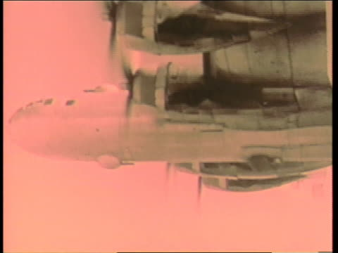 the enola gay drops an atomic bomb on hiroshima, japan during world war ii. - 1945 stock-videos und b-roll-filmmaterial