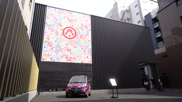 the entrance to the art aquarium museum is seen during the cherry blossom x goldfish exhibition on march 06 in tokyo, japan. this seasonally-themed... - freshwater stock videos & royalty-free footage
