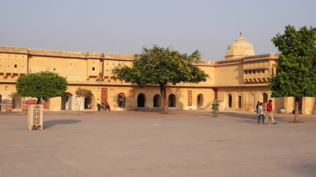 the entry courtyard of a royal rajasthani palace - intricacy stock videos & royalty-free footage