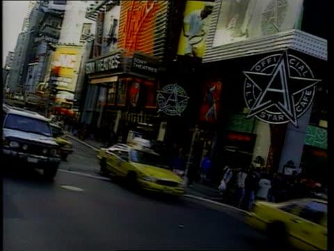 the environment lib usa new york traffic along streets people walking along busy street pan traffic traffic along - social issues stock videos & royalty-free footage