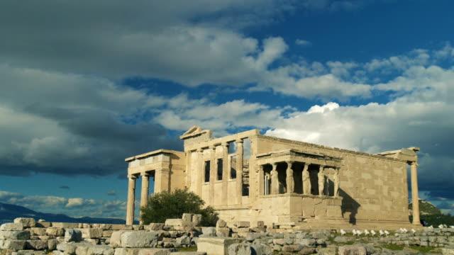 the erechtheion in greece - the erechtheion stock videos & royalty-free footage