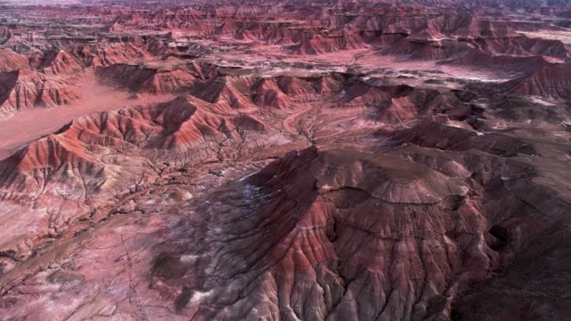 The eroded clay canyons nearby Cameron, Arizona