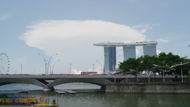 The Esplanade and Singapore River with Esplanade Drive