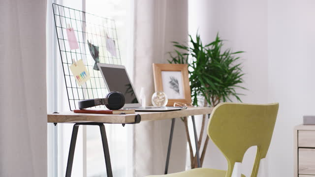 the essentials of a work from home setup - still life stock videos & royalty-free footage