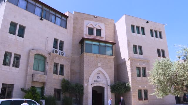 vídeos de stock, filmes e b-roll de the eu representative to the west bank and gaza strip sven kühn von burgsdorff holds a joint press conference with palestinian prime minister... - ramallah