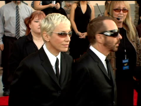 The Eurythmics Annie Lennox and Dave Stewart at the 2005 American Music Awards arrivals at the Shrine Auditorium in Los Angeles California on...