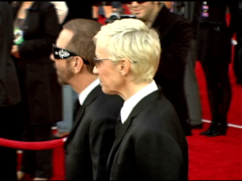 The Eurythmics Dave Stewart and Annie Lennox at the 2005 American Music Awards arrivals at the Shrine Auditorium in Los Angeles California on...