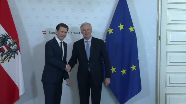 the eu's brexit negotiator michel barnier meets with austrian chancellor sebastian kurz and his government in vienna with just weeks left until the... - austrian culture stock videos and b-roll footage