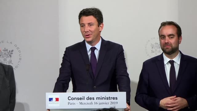 the eu's rejection of a rail merger between alstom and siemens would be an economic and political mistake says french government spokesman benjamin... - benjamin griveaux stock videos & royalty-free footage