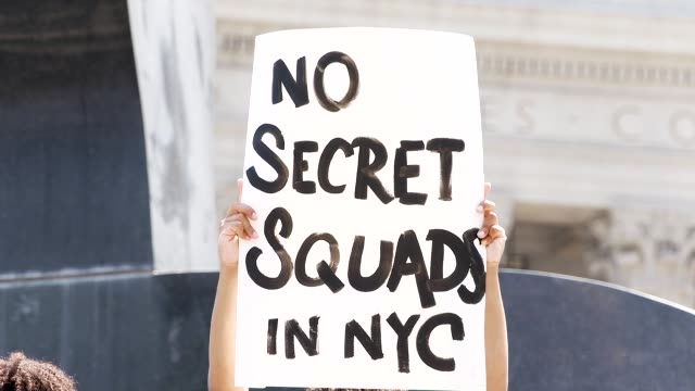 vidéos et rushes de the event was organized by freedom march nyc a protest group civil rights organization organized by young black women leading non-violent protests.... - non urban scene