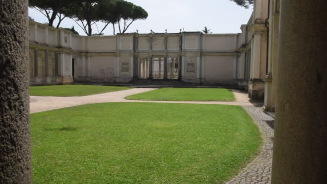 the exedra of villa giulia seat the national etruscan museum of villa giulia on june 11 2019 in rome italy - 16th century stock videos & royalty-free footage